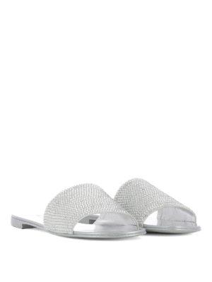 Giuseppe Zanotti: sandals online - Adelia crystals leather slides
