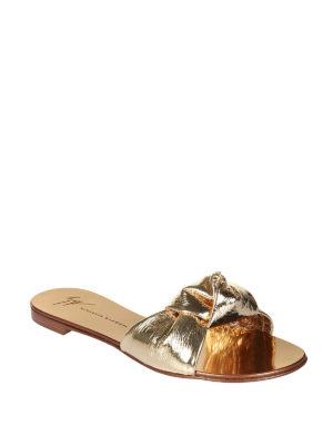 Giuseppe Zanotti: sandals online - Barbra laminated leather sandals