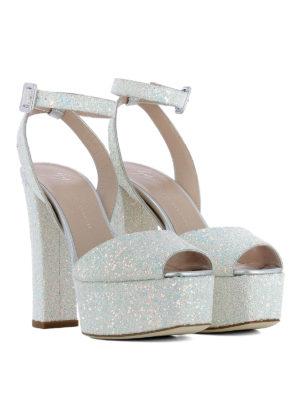 Giuseppe Zanotti: sandals online - Betty fabric and glitter sandals