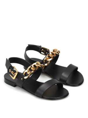 Giuseppe Zanotti: sandals online - Birel chain detail leather sandals