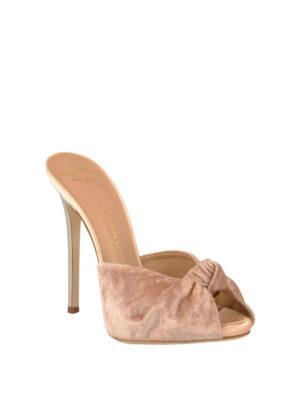 Giuseppe Zanotti: sandals online - Bridget velvet slide sandals
