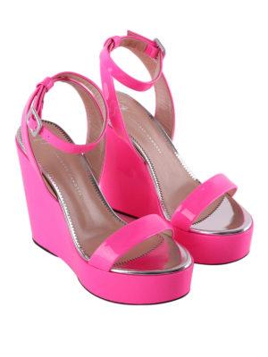 Giuseppe Zanotti: sandals online - Byrd fluo fuchsia wedges