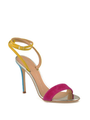 Giuseppe Zanotti: sandals online - Colour block suede sandals