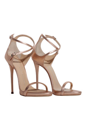 Giuseppe Zanotti: sandals online - Darcie Metallic leather sandals