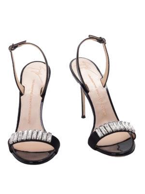 Giuseppe Zanotti: sandals online - Embellished sateen strap sandals