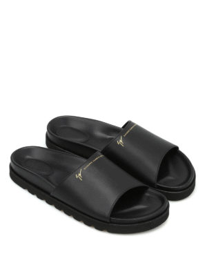 Giuseppe Zanotti: sandals online - Leather slippers