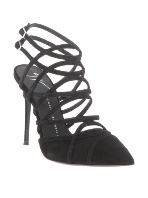 Giuseppe Zanotti: sandals online - Suede cage sandals