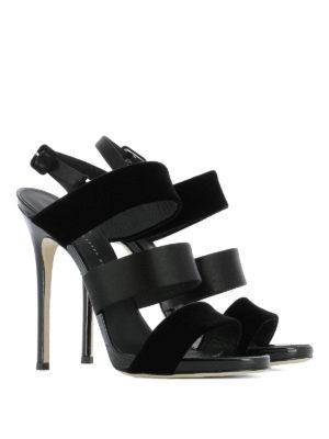 Giuseppe Zanotti: sandals online - Velvet and satin sandals