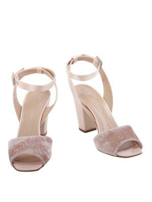 Giuseppe Zanotti: sandals online - Velvet strap sandals