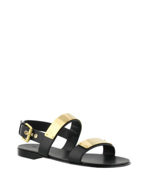 Giuseppe Zanotti: sandals online - Zak gold detail leather sandals