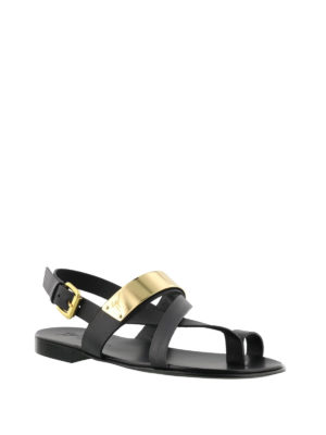 Giuseppe Zanotti: sandals online - Zak gold detail thong sandals
