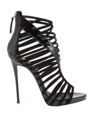 Giuseppe Zanotti: sandals - Patent leather cage sandals