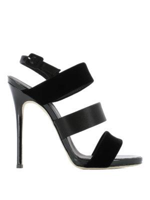 Giuseppe Zanotti: sandals - Velvet and satin sandals