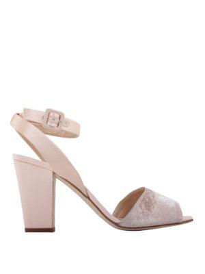Giuseppe Zanotti: sandals - Velvet strap sandals