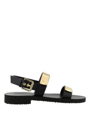 GIUSEPPE ZANOTTI: sandali - Sandali Zak neri con cinturino alla caviglia