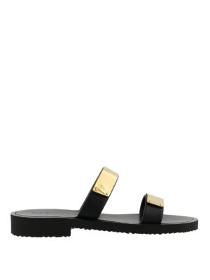 GIUSEPPE ZANOTTI: sandali - Sandali Zak in pelle nera
