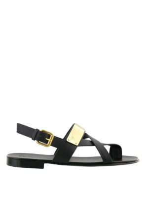 Giuseppe Zanotti: sandals - Zak gold detail thong sandals
