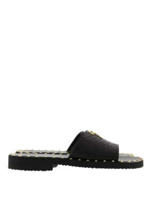 Giuseppe Zanotti: sandals - Zak python print leather sandals