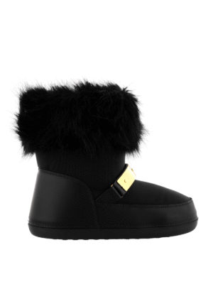 Giuseppe Zanotti: snow boots - Sestriere fur trimmed snow boots