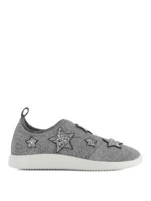 Giuseppe Zanotti: trainers - Alena Star fabric slip-on sneakers