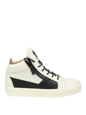 Giuseppe Zanotti: trainers - Bicolour leather high-top sneakers