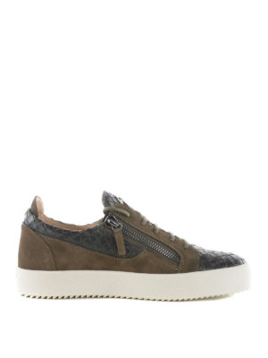 Giuseppe Zanotti: trainers - Clay Low woven leather sneakers