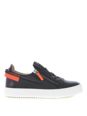 5547cba5e17e78 GIUSEPPE ZANOTTI: sneakers - Sneaker nere con dettagli a contrasto
