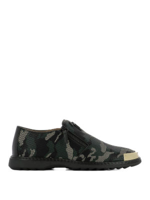 Giuseppe Zanotti: trainers - Cooper camouflage zipped shoes