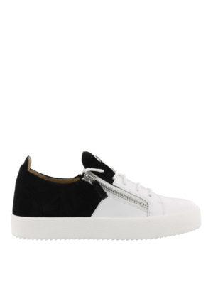 GIUSEPPE ZANOTTI: sneakers - Sneaker Double bianche e nere