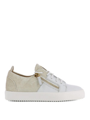 Giuseppe Zanotti: trainers - Double leather and velvet sneakers