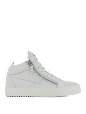 Giuseppe Zanotti: trainers - Double zip leather sneakers