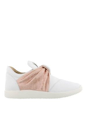 GIUSEPPE ZANOTTI: sneakers - Sneaker slip on con fascia preziosa