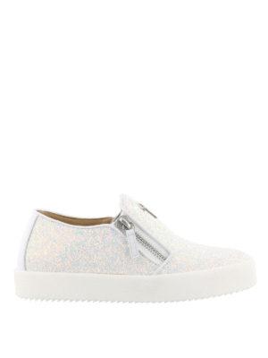 Giuseppe Zanotti: trainers - Eve glitter zipped sneakers
