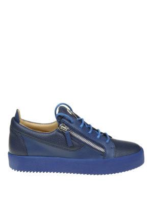 Giuseppe Zanotti: trainers - Frankie blue leather sneakers