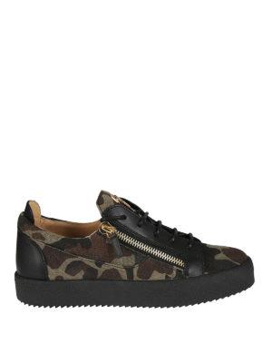 Giuseppe Zanotti: trainers - Frankie camo low-top sneakers