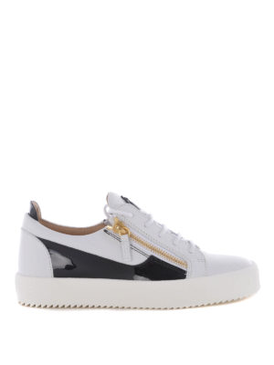 Giuseppe Zanotti: trainers - Frankie leather and patent sneakers