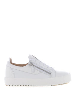 Giuseppe Zanotti: trainers - Frankie white leather sneakers