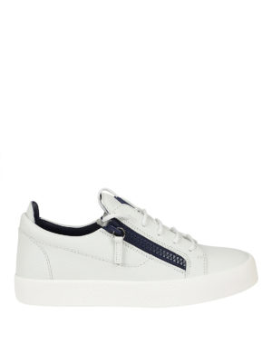 Giuseppe Zanotti: trainers - Frankie white low-top sneakers