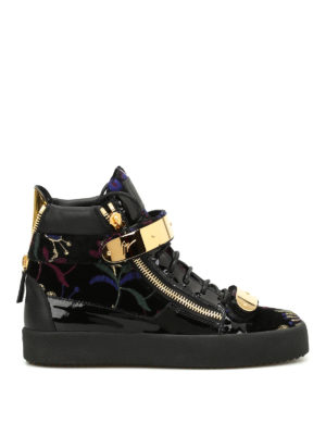 Giuseppe Zanotti: trainers - Hi-top embroidered sneakers
