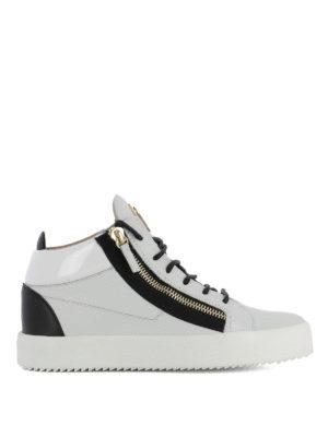 GIUSEPPE ZANOTTI: sneakers - Sneaker Kriss bianche e nere