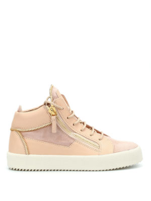 Giuseppe Zanotti: trainers - Leather and suede mid-top sneakers