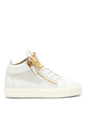 Giuseppe Zanotti: trainers - Leather mid-top sneaker