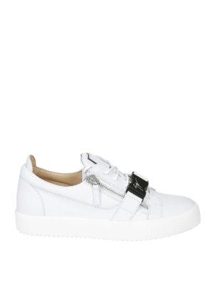 3a6775081f5177 GIUSEPPE ZANOTTI: sneakers - Sneaker in pelle con fibbia a contrasto