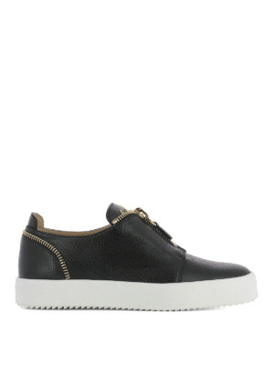 Giuseppe Zanotti: trainers - Leather zip detail sneakers