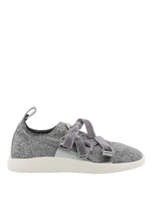 Giuseppe Zanotti: trainers - Maggie glittered slip-on sneakers