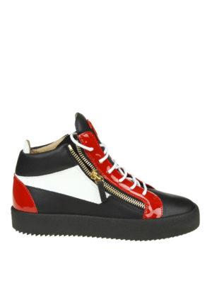 GIUSEPPE ZANOTTI: sneakers - Sneaker alte May a blocchi di colore