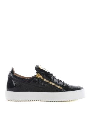 Giuseppe Zanotti: trainers - May London croco print sneakers