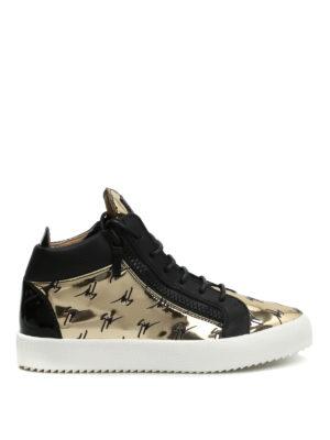 Giuseppe Zanotti: trainers - May London high top mirror sneakers