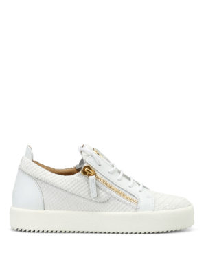 Giuseppe Zanotti: trainers - May London printed leather sneakers