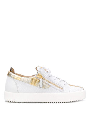 GIUSEPPE ZANOTTI: sneakers - Sneaker May London in pelle stampa rettile